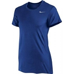 Nike Women's Short Sleeve Dri Fit - Royal Blue
