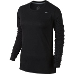 Nike Women's Long Sleeve Dri Fit - Black