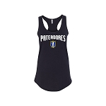 Black Womens Racerback Pateadores Tank Top