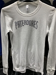 Women's White Long Sleeve Bedazzled Pateadores T-Shirt