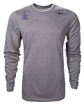 Pats Academy Grey Long Sleeve Dri Fit