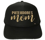 Black Pats Mom Cursive Trucker Hat